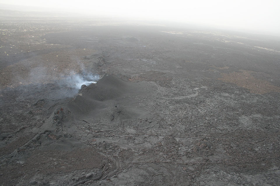 An important force driving the rifting is magma created beneath earth's rocky outer shell, which has forced its way upward to push apart the crust. This eruption happened in the Afar in June 2009. (David Ferguson)