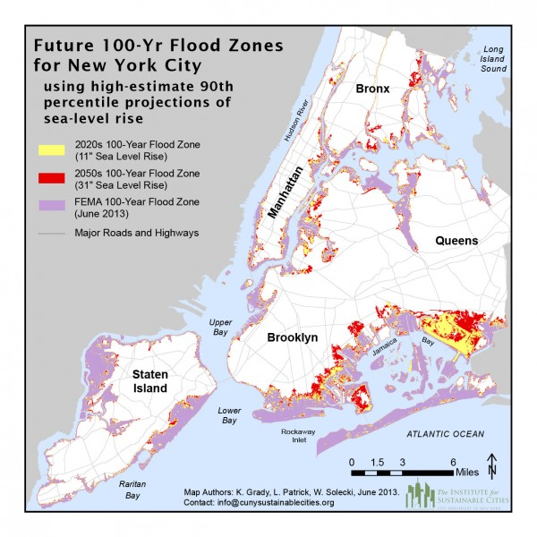 NYC 100yr flood zones NYU