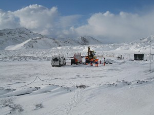Fieldwork at the CarbFix CO2 injection site in Iceland during March 2011. Photo:  Martin Stute, LDEO