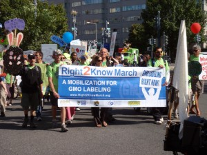 A 2011 march for GM labeling. Photo: DaquellaManera