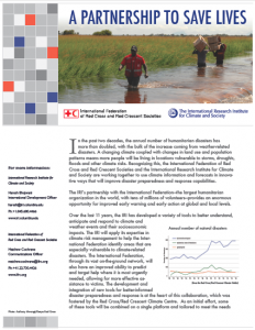 Download this fact sheet to learn more about the partnership between IRI and the International Federation of Red Cross and Red Crescent Societies.