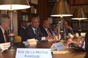 Prime Minister Laurent Lamothe speaks about improving government capacity in partnership with donor community.