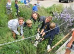 Students planting a rain garden. Photo: Center for Neighborhood Technology