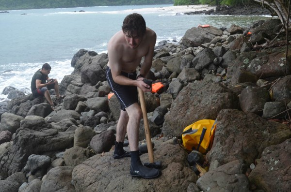 """On the remote Azuero peninsula of western Panama, geologists are hunting for rocks that may help tell the story of a pivotal event in earth's history: the formation of the slender land bridge joining the Americas. Centered on the isthmus of Panama, it changed not just the world map, but the course of evolution, climate and ocean circulation. But finding these rocks can be a strenuous task. <a href=""""blogs.ei.columbia.edu/2014/01/13/the-isthmus-of-panama-out-of-the-deep-earth/"""">READ THE FULL SCIENTIFIC STORY</a>"""