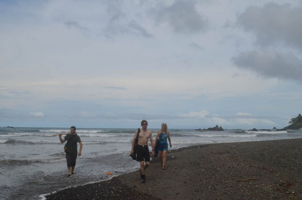 """For now, the team prefers working on the Azuero coast, and intends to return. It has the kind of rocks they are looking for. And, says Gazel, """"it has nature all around."""""""