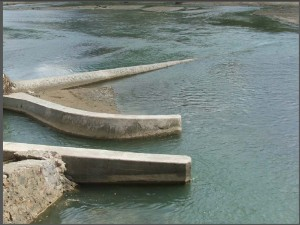 Picture of flood infrastructure. Haiti has high risk for flooding.