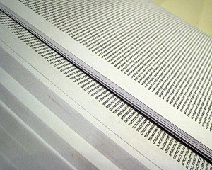 The human genome, printed. Photo: Adam Nieman