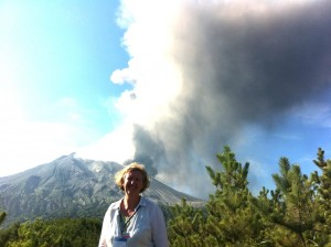 Plank at the eruption of Sakurajima in Japan, July 2013