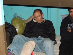 Scott falls asleep on the M/V Mowali sailing to join everyone on the larger ship after a very long and successful day.