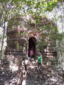 The ruins of the ~400 year old Shakher Temple to the Hindu goddess Kali.