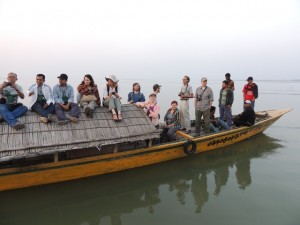 We rented country boats to get a view of the embankment at Sirajganj from the Brahmaputra River
