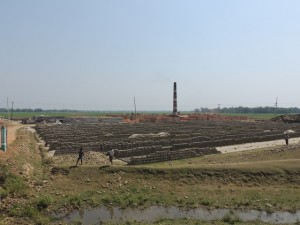 One of the myriad brick factories in Bangladesh.  The lack of rocks means bricks are widely used for construction.