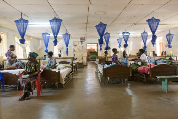 Women, babies, Ekwendeni Mission Hospital, Mzimba District, Malawi