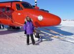 Polar scientist Robin Bell in the field.