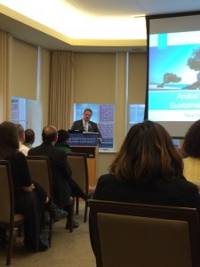 Prime Minister Mike Eman at Columbia University on March 28, 2014. Photo: Hayley Martinez