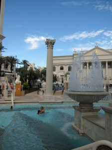 Fountains at Caesars Palace