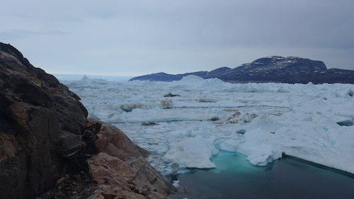 Alison Fjord filled with icy mélange. (Photo M. Turrin)