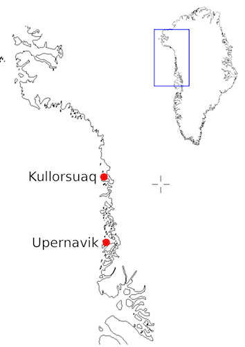 Project location. Currently we are located in Upernavik prior to moving on to Kullorsuaq.