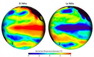 heat map of el nino vs la nina