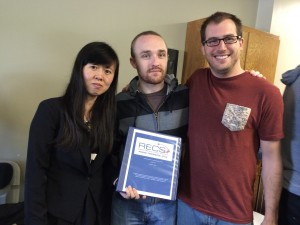 RECS participants from Columbia (left to right): Junfeng Wang, Maxim Stonor, and Christophe Jospe