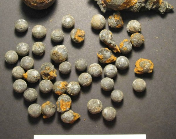 An array of munitions were also found on board, including a French-made cannonball and the American-made musket balls pictured. New York harbor was a dangerous place through the 1700s amid ongoing wars with the French and local Native Americans; Merchants ships would have also had to fend off pirates that roamed the area.
