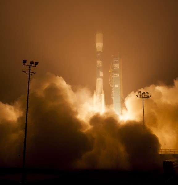 A United Launch Alliance Delta II rocket launches with the OCO-2.