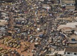 Traffic jams like this one in Monrovia, Liberia, are one challenge for sustainable urban development, one of the topics of the Earth Institute Practicum series this fall. Photo: UN/Christopher Herwig
