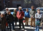 David Walker leads students and colleagues on a geology tour of Columbia University.