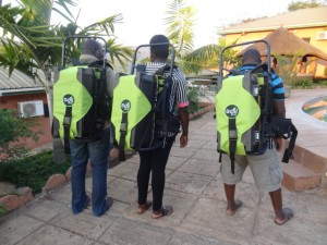 3 extension workers wearing SoilDoc kits