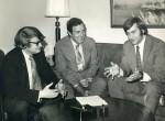Leon Billings, Edmund Muskie, and Thomas Jorling circa 1970.