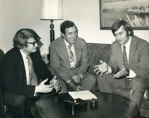 Leon Billings, Edmund Muskie, and Thomas Jorling circa 1970.