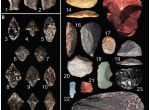 These lithic artifacts were discovered at almost 4,500 meters elevation in the Peruvian Andes, at the highest-altitude Pleistocene archaeological site yet identified in the world. Figure by E. Cooper, in Rademaker et al. (2014) Science.
