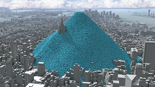 New york city emitted over 54 million tons of co2 in the year 2010 to
