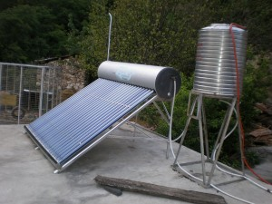 Solar thermal systems are on rooftops everywhere in China.
