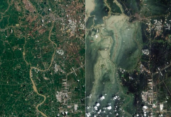 Thailand flood satellite maps