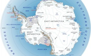 Antarctica map NASA