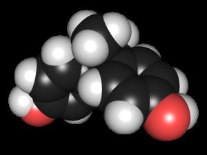 Rendering of a Bisphenol A molecule