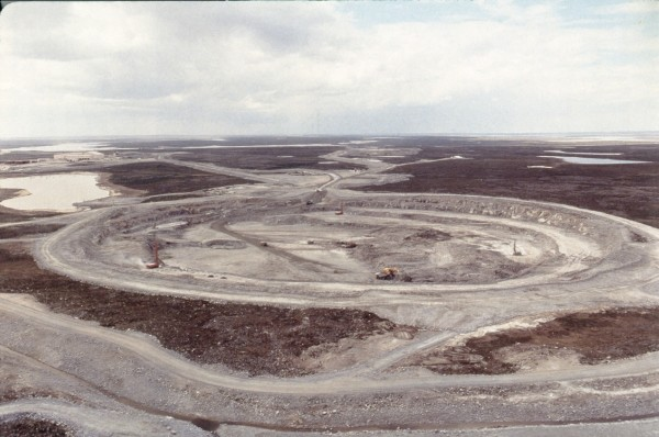 The Ekati diamond mine, on the tundra of Canada's Northwest Territories, source of some of Weiss's samples. The geochemist is interested in the origins of North American diamonds. CLICK FOR SLIDESHOW