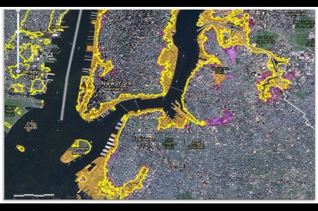 NY sea level rise map  Photo: FEMA