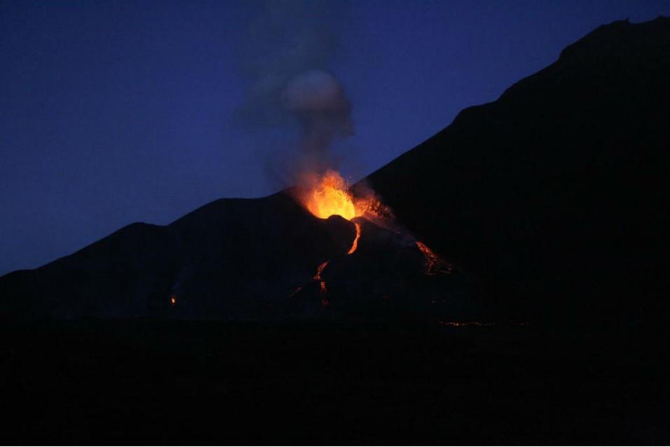 Fogo erupts