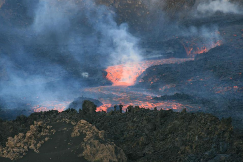 Fogo lava river