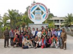 Group photo at Hiron Point in the Sundarbans Mangrove Forest - a world heritage site.