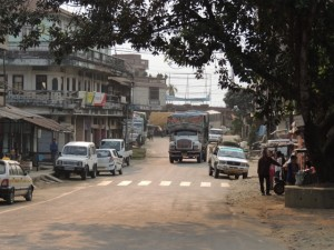 A view down the street in Kolasib in northern Mizoram