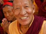 Happy Tibetan Buddhist monk