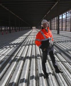 The gigafactory under construction. Photo: Steve Jurvetson