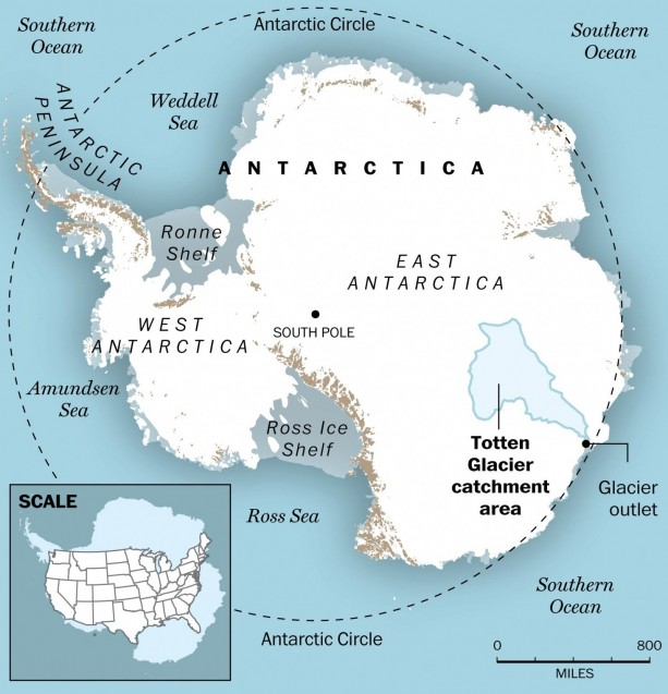 Antarcticas Retreating Ice - Antarctica cities map