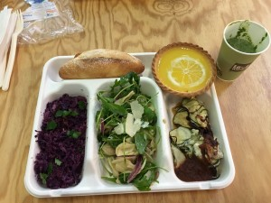 All of the lunches at the student conference were vegetarian and locally grown with sustainable practices.