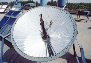 A solar concentrator. Photo: John Isaac