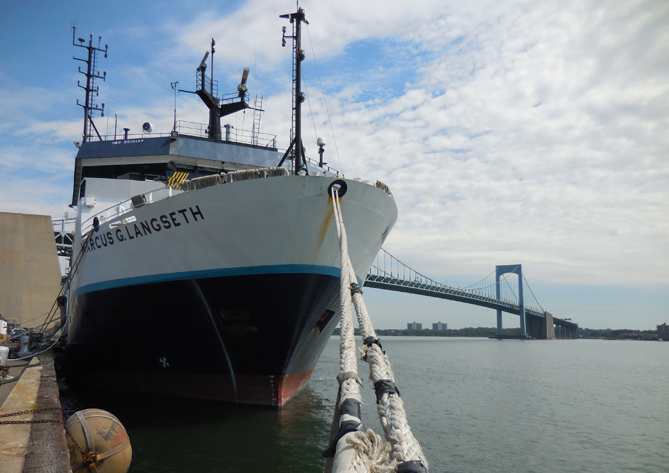 The R V Marcus G Langseth Docked In New York