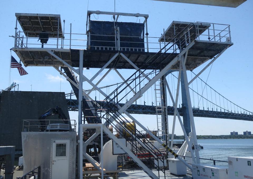 Observation decks on the Langseth